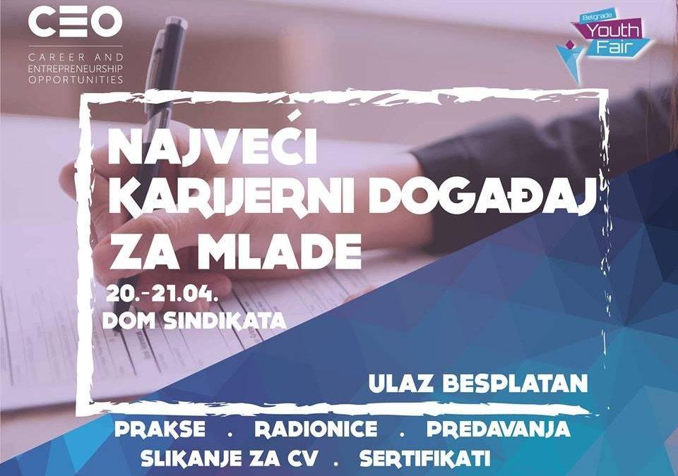 Najava: Belgrade Youth Fair & CEO Konferencija